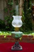 Oil Lamp with hand painted font 121 (530x800)